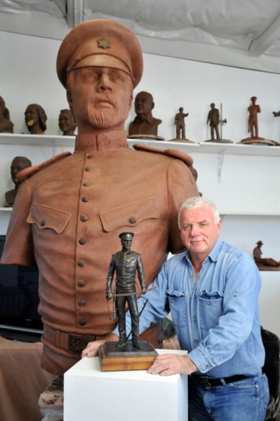 Sculptor Archie St. Clair